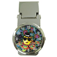 Abstract Digital Art Money Clip Watches