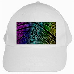 Abstract Background Rainbow Metal White Cap