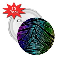 Abstract Background Rainbow Metal 2 25  Buttons (10 Pack)