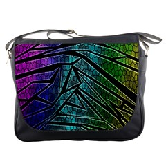 Abstract Background Rainbow Metal Messenger Bags