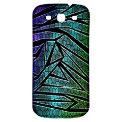 Abstract Background Rainbow Metal Samsung Galaxy S3 S Iii Classic Hardshell Back Case