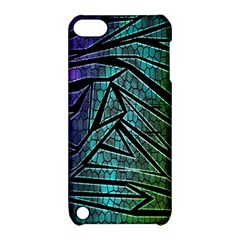 Abstract Background Rainbow Metal Apple Ipod Touch 5 Hardshell Case With Stand
