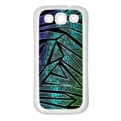 Abstract Background Rainbow Metal Samsung Galaxy S3 Back Case (white)