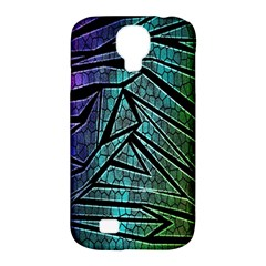 Abstract Background Rainbow Metal Samsung Galaxy S4 Classic Hardshell Case (pc+silicone) by Nexatart