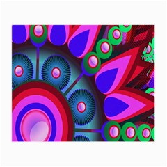 Abstract Digital Art  Small Glasses Cloth (2 Side)