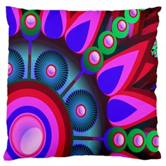 Abstract Digital Art  Large Cushion Case (two Sides) by Nexatart