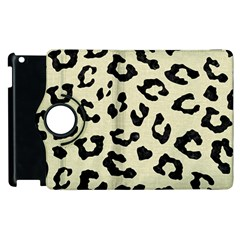 Skin5 Black Marble & Beige Linen Apple Ipad 2 Flip 360 Case by trendistuff