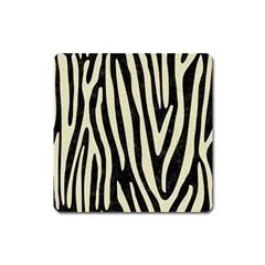 Skin4 Black Marble & Beige Linen (r) Magnet (square) by trendistuff