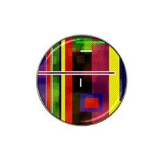 Abstract Art Geometric Background Hat Clip Ball Marker (10 Pack) by Nexatart