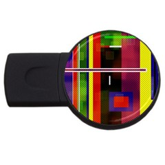 Abstract Art Geometric Background Usb Flash Drive Round (4 Gb) by Nexatart