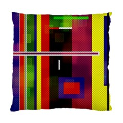 Abstract Art Geometric Background Standard Cushion Case (one Side)