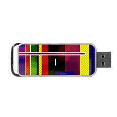 Abstract Art Geometric Background Portable Usb Flash (one Side) by Nexatart