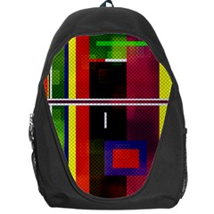 Abstract Art Geometric Background Backpack Bag