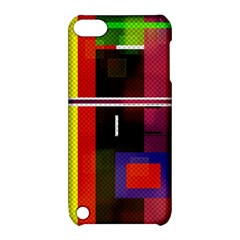 Abstract Art Geometric Background Apple Ipod Touch 5 Hardshell Case With Stand