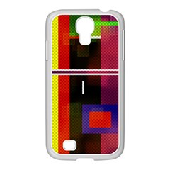 Abstract Art Geometric Background Samsung Galaxy S4 I9500/ I9505 Case (white) by Nexatart