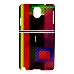 Abstract Art Geometric Background Samsung Galaxy Note 3 N9005 Hardshell Case