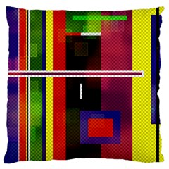 Abstract Art Geometric Background Large Flano Cushion Case (two Sides) by Nexatart