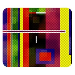 Abstract Art Geometric Background Double Sided Flano Blanket (small)
