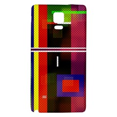 Abstract Art Geometric Background Galaxy Note 4 Back Case by Nexatart