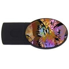 Abstract Digital Art Usb Flash Drive Oval (2 Gb)