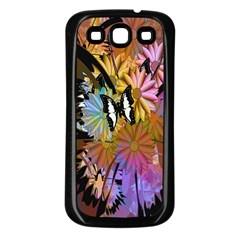 Abstract Digital Art Samsung Galaxy S3 Back Case (black)
