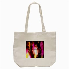 Abstract Background Design Squares Tote Bag (cream) by Nexatart