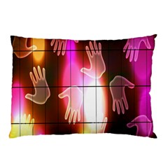 Abstract Background Design Squares Pillow Case (two Sides)