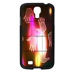 Abstract Background Design Squares Samsung Galaxy S4 I9500/ I9505 Case (black)