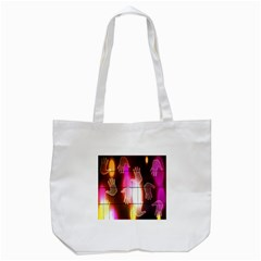 Abstract Background Design Squares Tote Bag (white) by Nexatart