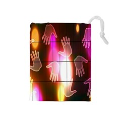 Abstract Background Design Squares Drawstring Pouches (medium)