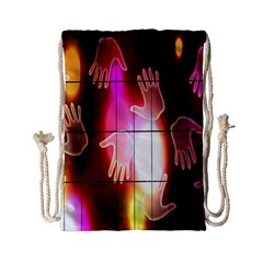 Abstract Background Design Squares Drawstring Bag (small) by Nexatart
