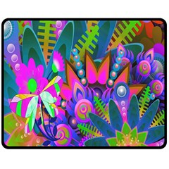 Abstract Digital Art  Double Sided Fleece Blanket (medium)