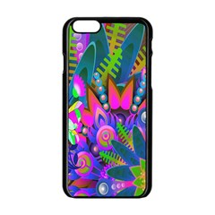 Abstract Digital Art  Apple Iphone 6/6s Black Enamel Case