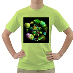 Abstract Balls Color About Green T Shirt by Nexatart