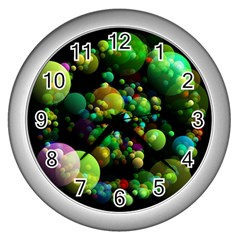 Abstract Balls Color About Wall Clocks (silver)