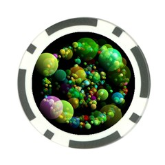 Abstract Balls Color About Poker Chip Card Guard (10 Pack)