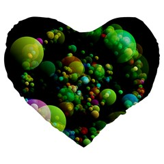 Abstract Balls Color About Large 19  Premium Heart Shape Cushions