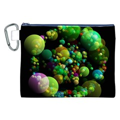 Abstract Balls Color About Canvas Cosmetic Bag (xxl) by Nexatart