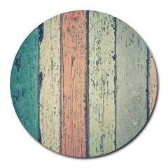 Abstract Board Construction Panel Round Mousepads by Nexatart