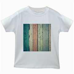 Abstract Board Construction Panel Kids White T Shirts