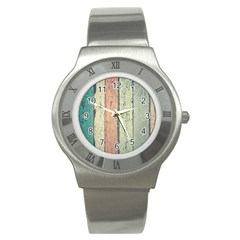 Abstract Board Construction Panel Stainless Steel Watch by Nexatart