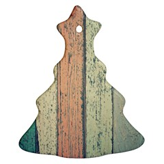 Abstract Board Construction Panel Christmas Tree Ornament (two Sides)