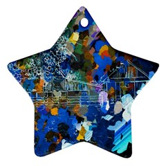 Abstract Farm Digital Art Ornament (star)