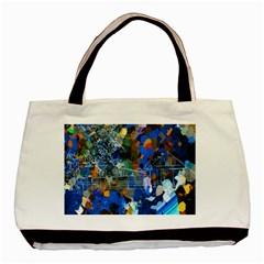 Abstract Farm Digital Art Basic Tote Bag