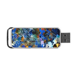 Abstract Farm Digital Art Portable Usb Flash (one Side) by Nexatart