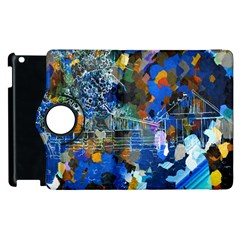 Abstract Farm Digital Art Apple Ipad 2 Flip 360 Case by Nexatart