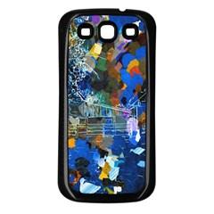 Abstract Farm Digital Art Samsung Galaxy S3 Back Case (black)