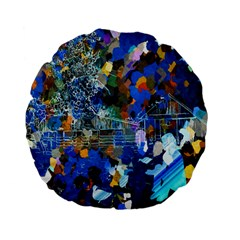 Abstract Farm Digital Art Standard 15  Premium Flano Round Cushions by Nexatart