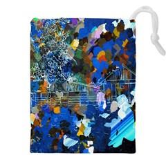 Abstract Farm Digital Art Drawstring Pouches (xxl)