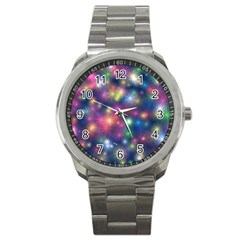 Abstract Background Graphic Design Sport Metal Watch by Nexatart